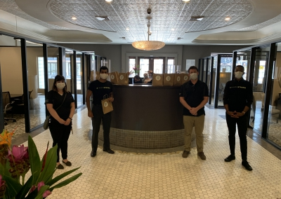 Affordit donates COVID Care Packages to Valley Bank